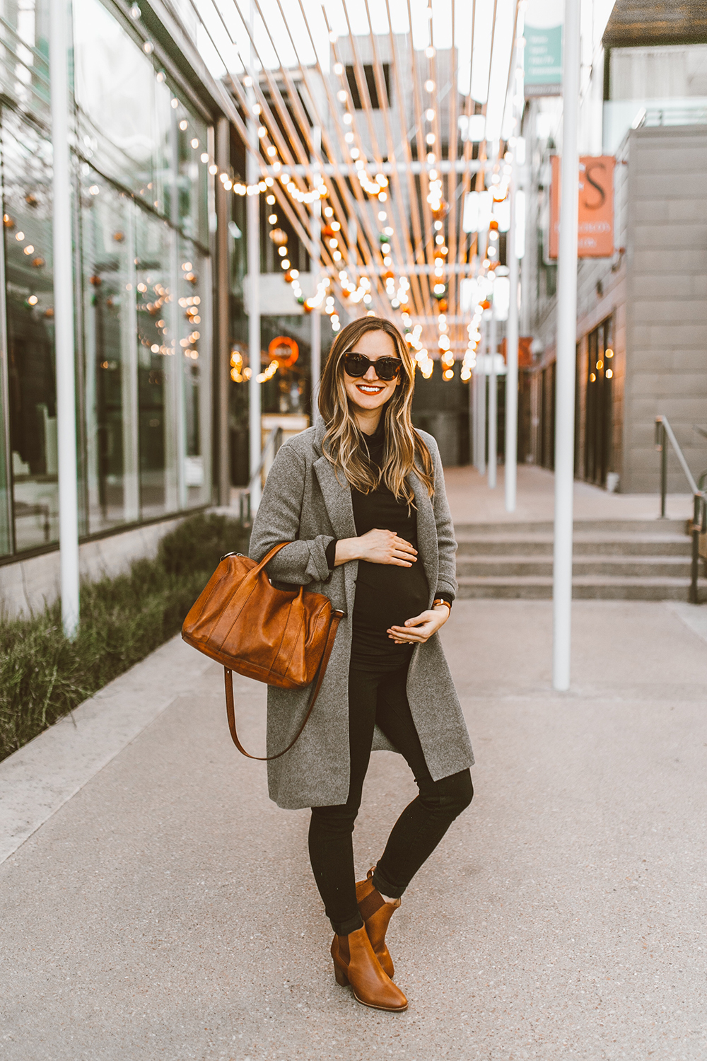 livvyland-blog-olivia-watson-austin-texas-fashion-style-blogger-third-trimester-outfit-pregnancy-maternity-madewell-double-breasted-sweater-coat-grey-turtleneck-7