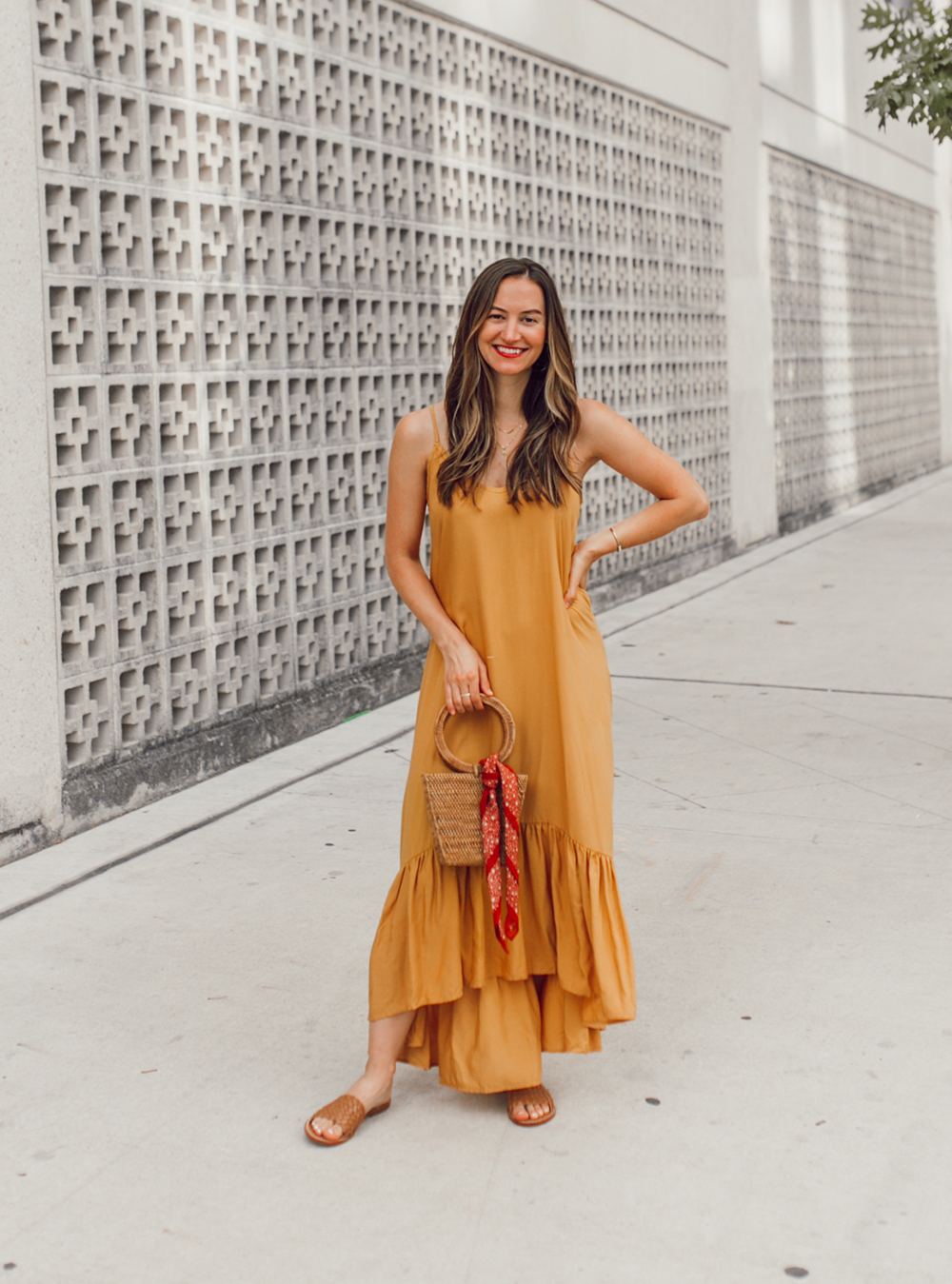 livvyland-blog-olivia-watson-mustard-canary-yellow-maxi-dress-love-sadie-summer-date-night-outfit-1