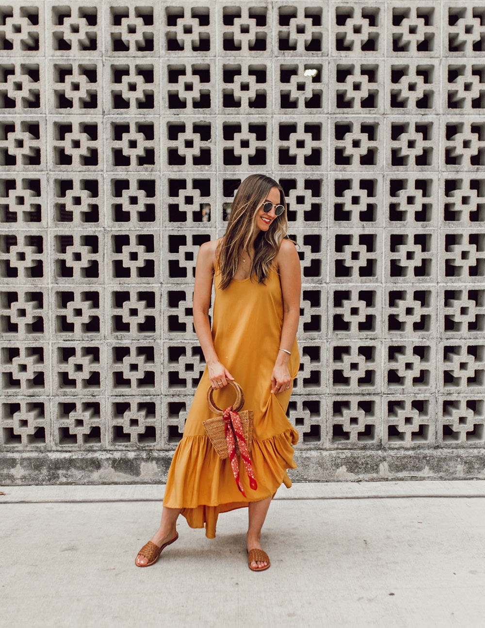livvyland-blog-olivia-watson-mustard-canary-yellow-maxi-dress-love-sadie-summer-date-night-outfit-2
