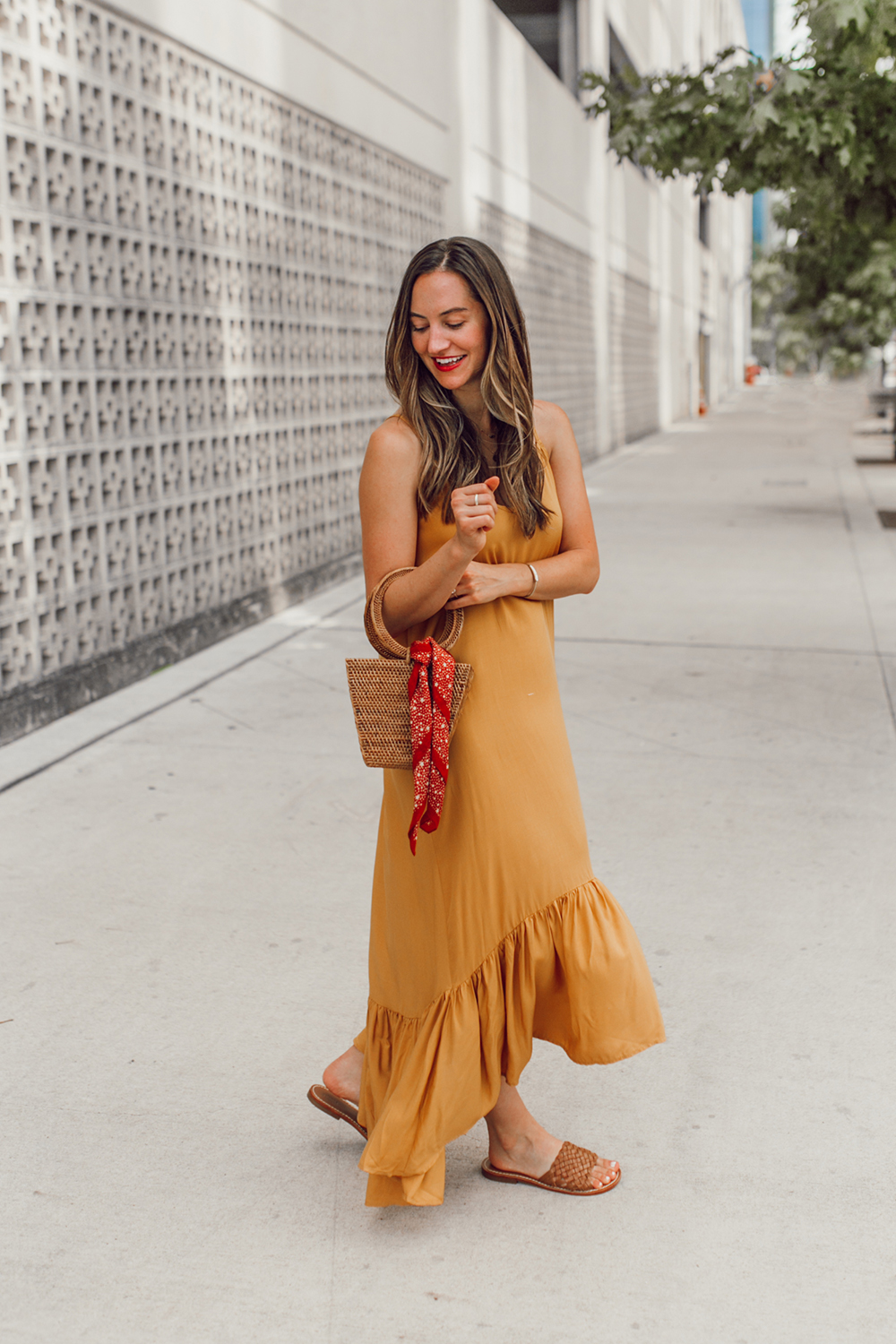livvyland-blog-olivia-watson-mustard-canary-yellow-maxi-dress-love-sadie-summer-date-night-outfit-5