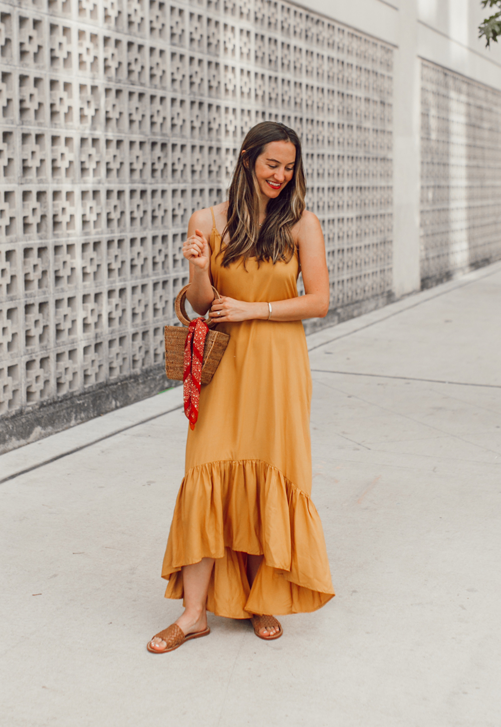 livvyland-blog-olivia-watson-mustard-canary-yellow-maxi-dress-love-sadie-summer-date-night-outfit-7