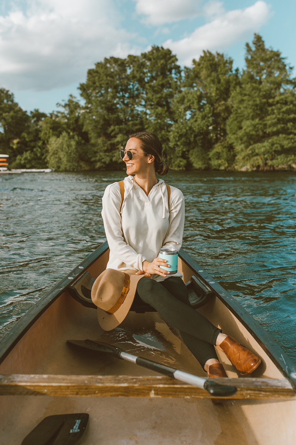livvyland-blog-olivia-watson-canoe-lady-bird-lake-austin-texas-lifestyle-fashion-blogger-backcountry-patagonia-waffle-hooded-knit-tunic-6