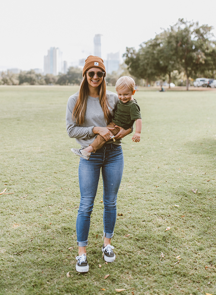 livvyland-blog-olivia-watson-austin-texas-zilker-park-fall-lifestyle-blogger-fashion-mama-me-boy-matching-outfit