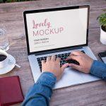 Male freelancer working on Macbook