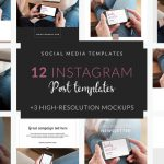 Instagram Post Template: Relaxed Woman With White iPhone Mockup in Her Hands