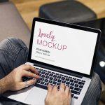 MacBook Mockup Featuring a Modern Man Working