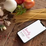 iPhone 11 Mockup Featuring Italian Ingredients Featured
