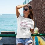 T-Shirt Mockup of a Woman Drinking a Smoothie featured