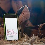 Product Mockup, Green iPhone Fun Night Featured