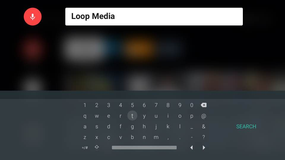 Search for Loop Media on Your Smart TV