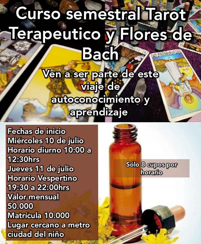 Curso Semestral Tarot Terapéutico y Flores de Bach