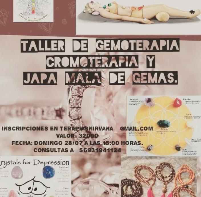 Taller de Gemoterapia Cromoterapia y Japa Mala