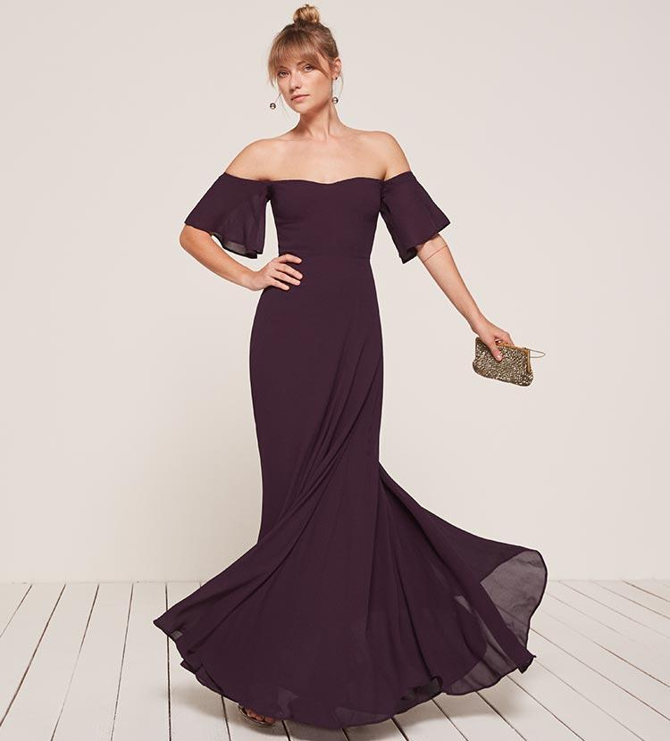fall bridesmaid dresses, reformation bridesmaid dresses