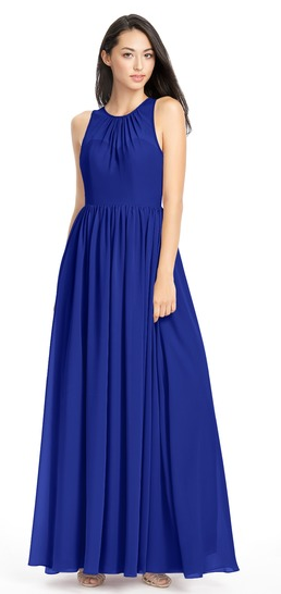 fall bridesmaid dresses, bold blue bridesmaid