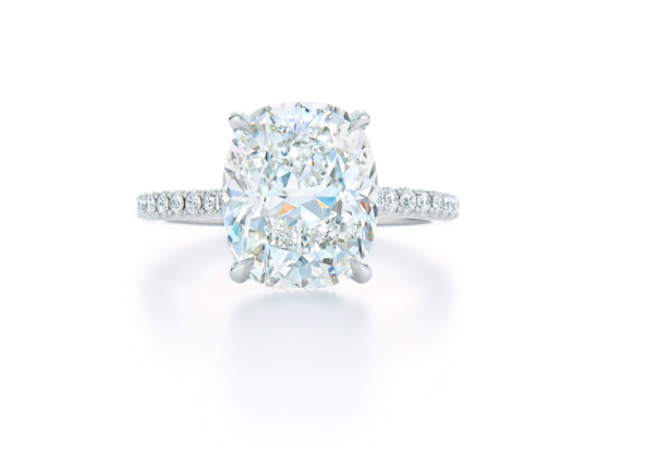 cushion cut solitaire engagement ring, diamond engagement ring