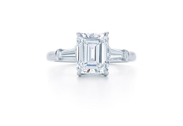 emerald cut diamond engagement ring, diamond engagement ring