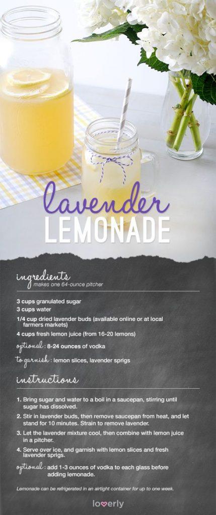 lavender lemonade recipe, loverly drink recipe, lavender lemonade easy