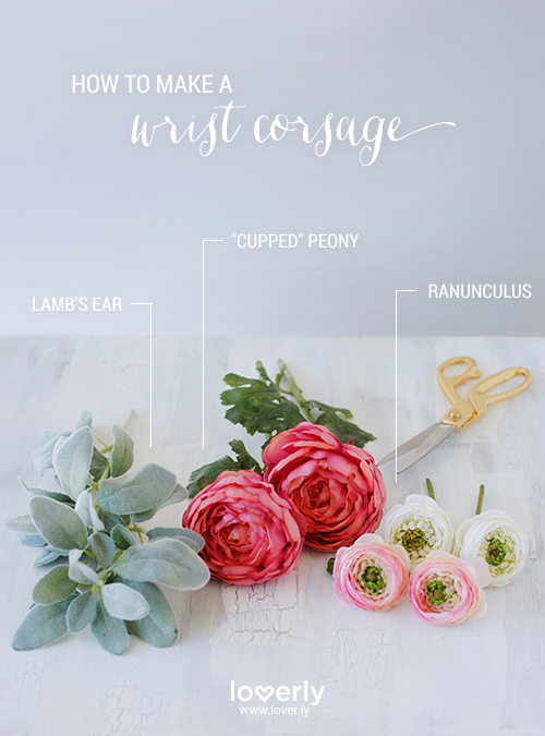 how to DIY wrist corsage