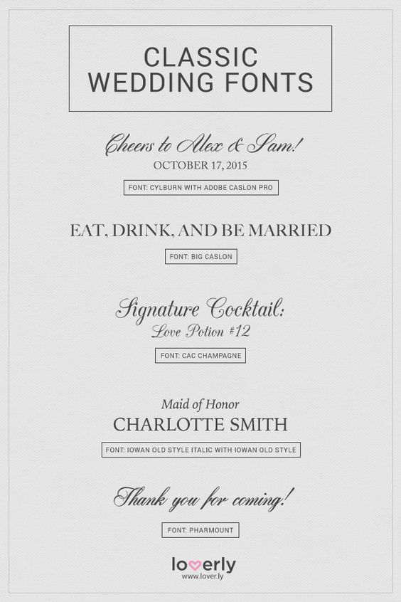 20 Fabulous Wedding Fonts For Every Wedding Style Loverly