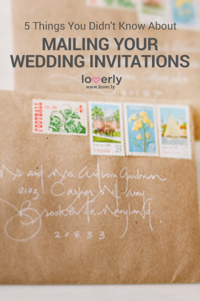 5 Things You Didnt Know About Mailing Wedding Invitations Loverly