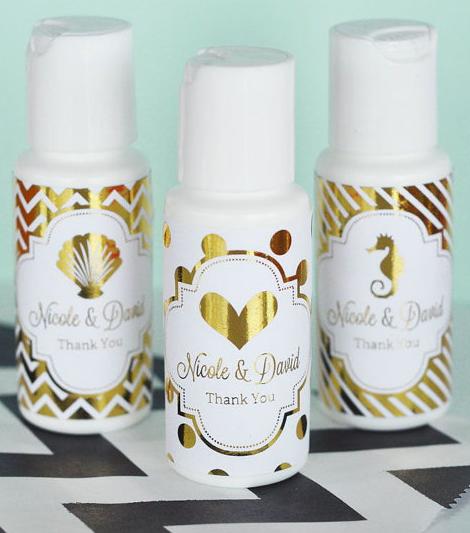 summer wedding essentials, wedding personalized sunscreen, sunscreen wedding favor