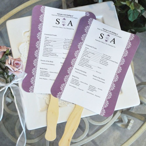 wedding program fans, summer wedding essentials