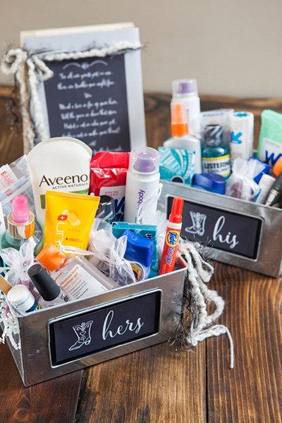 summer wedding essentials, wedding relief station