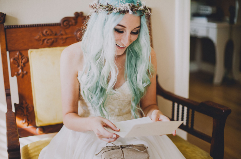 brides with pastel hair