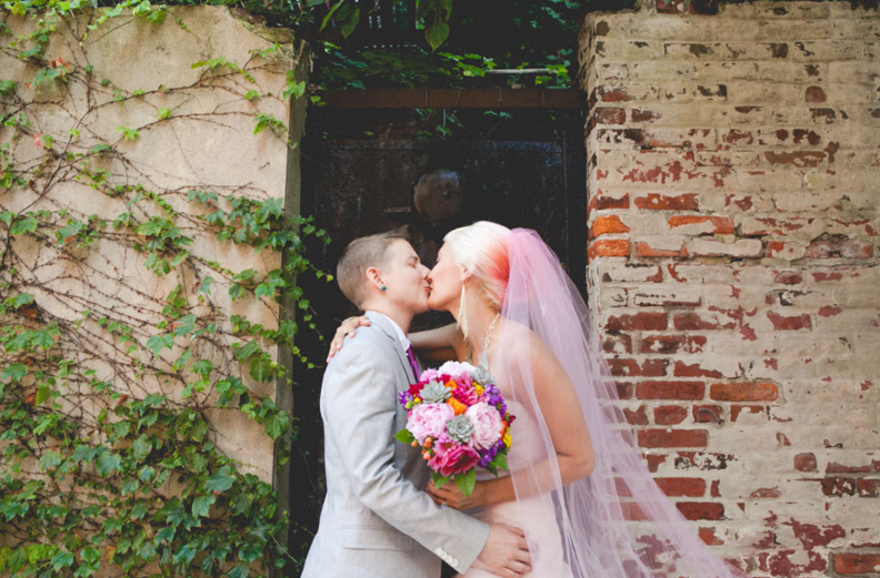 INCREDIBLE QUEER WEDDING AT PHILADELPHIA'S MAGIC GARDENS