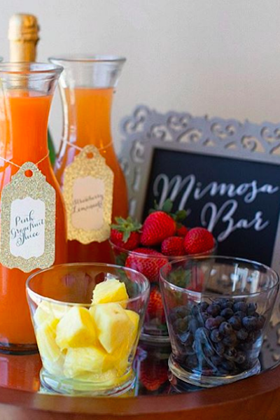 8 DIY Food and Drink Bars That Are Perfect for Your Bridal Shower Brunch