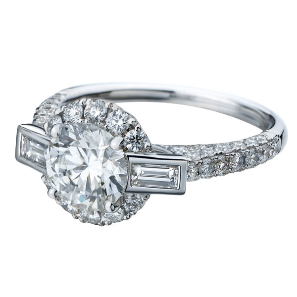 forevermark engagement ring, engagement ring side view