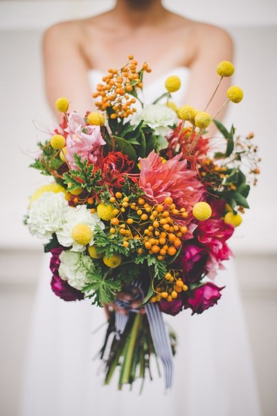BurstingWithColorFlowers; Stunning Statement Bouquets