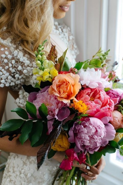 ColorfulPeonies; Stunning Statement Bouquets