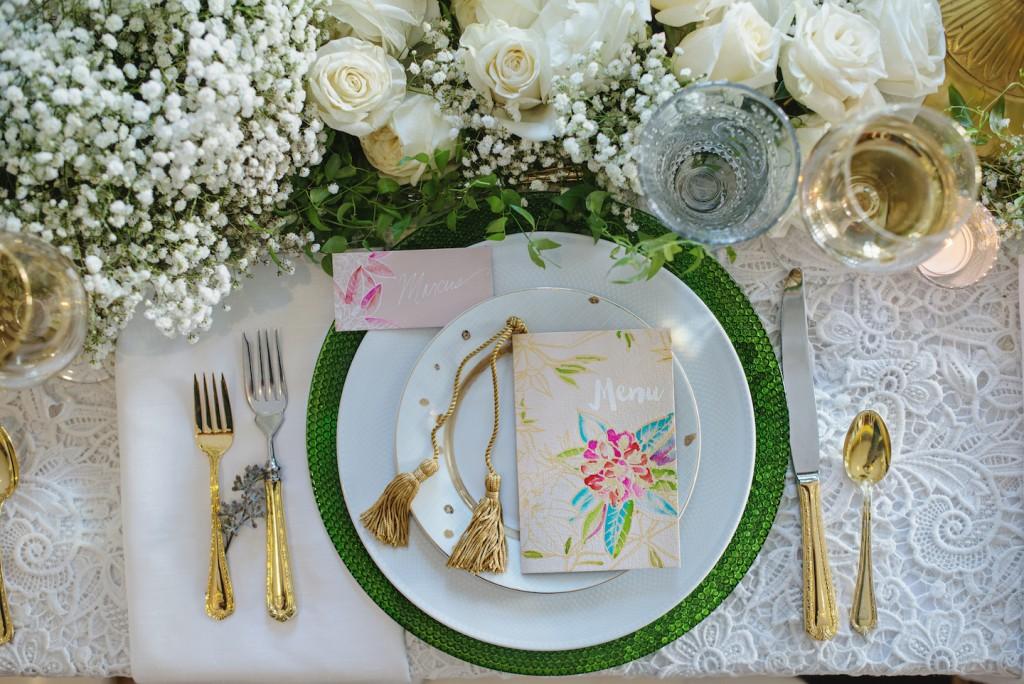 Whimsical Wedding Styled Shooting, handmade watercolor wedding
