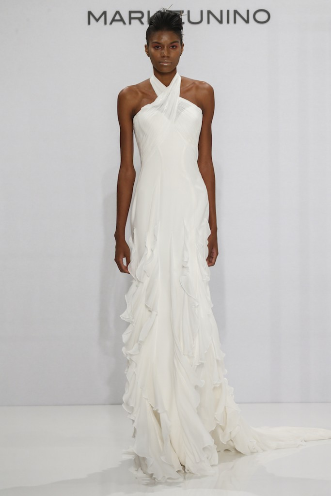 MARK-ZUNINO;This Season's Bridal Fashion Week Schooled Us On How to Rock Wedding Day Ruffles