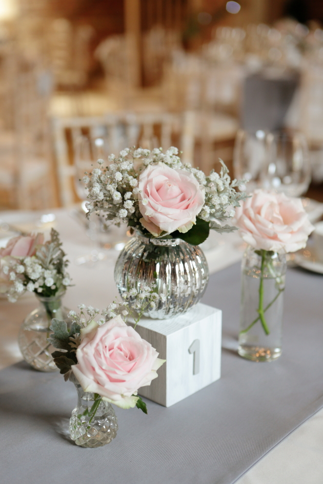 Romantic Grey Pink Wedding Filled With Polka Dots Pom Poms Loverly