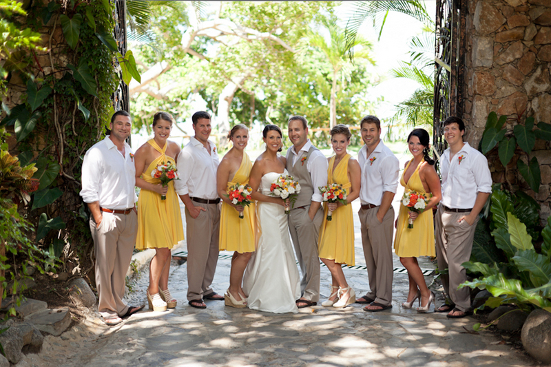 Yellow, Red, and Orange Mexico Destination Wedding – Loverly