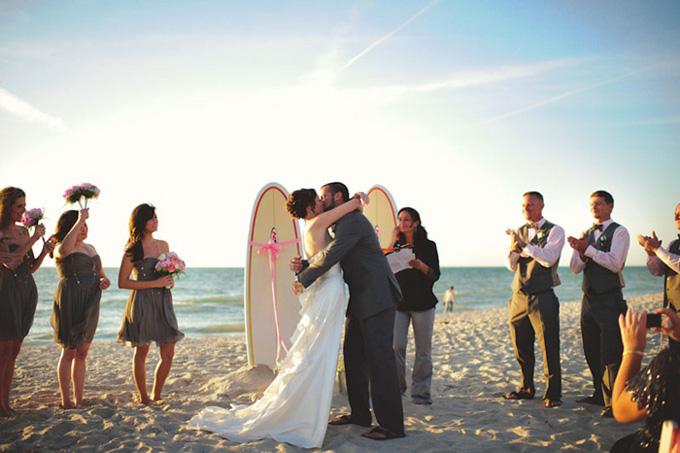 A Vintage Surfing Beach Wedding Loverly