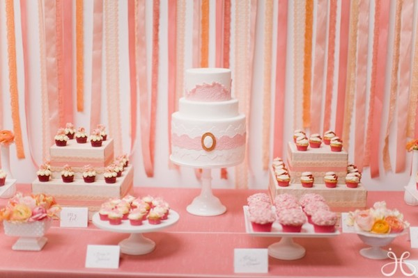 my coral peach and blush pink los angeles bridal shower