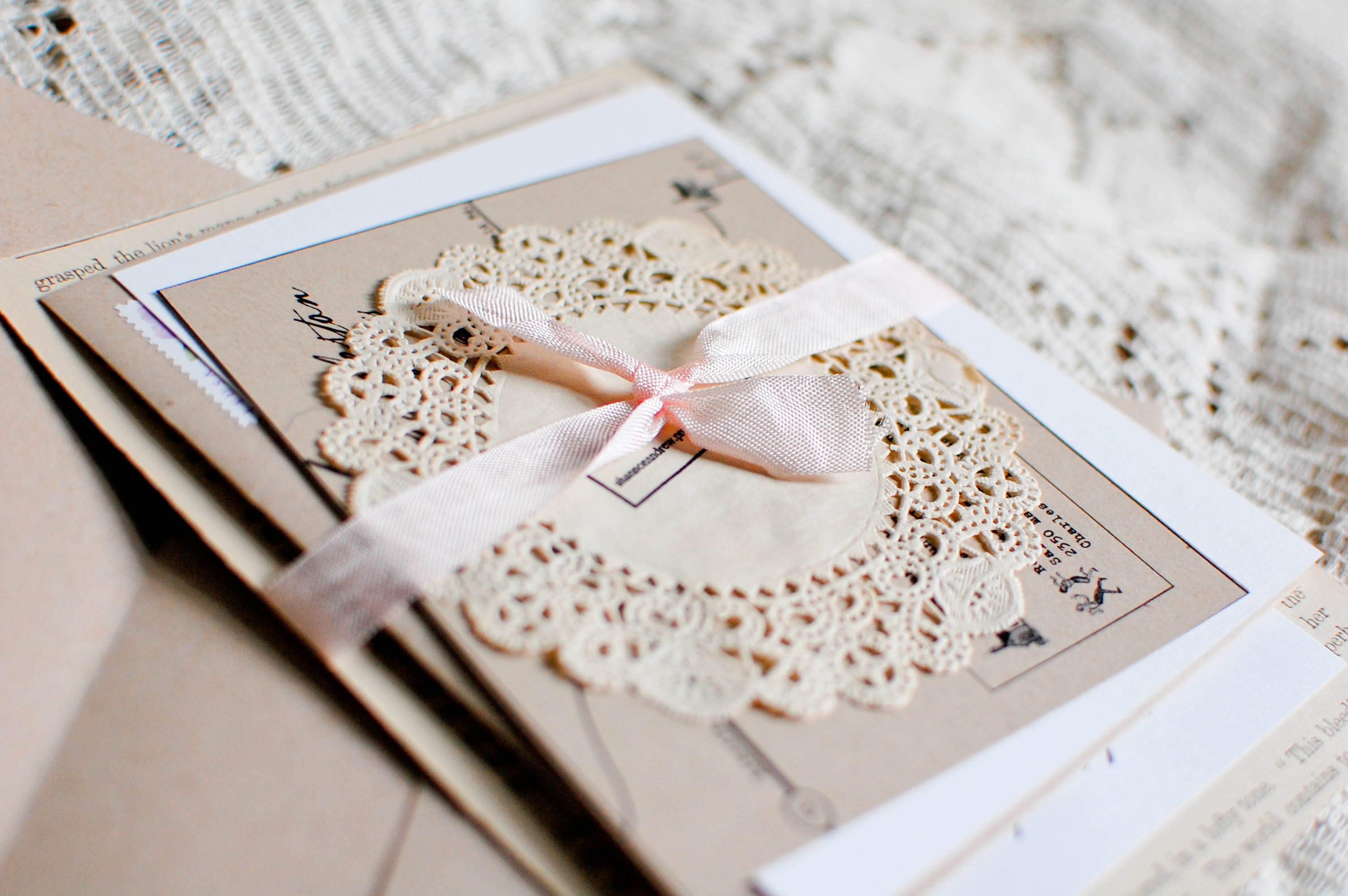 Tuesday Paper Diy Rustic Chic Wedding Invitations