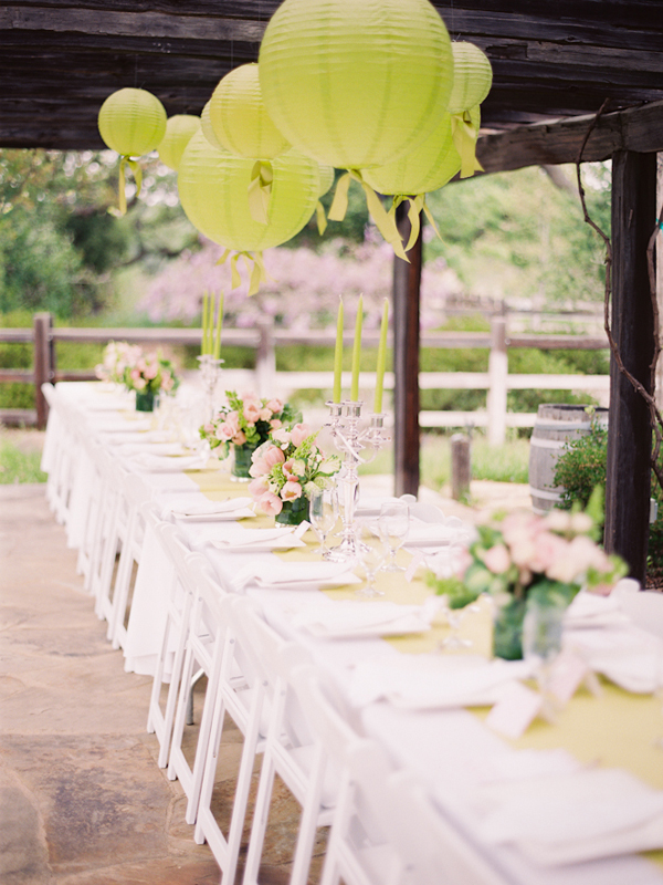 preppy pink and green bridal shower
