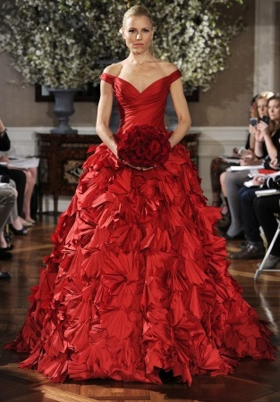 Would you wear a red wedding gown loverly the ultimate wedding would you wear a red wedding gown junglespirit Choice Image