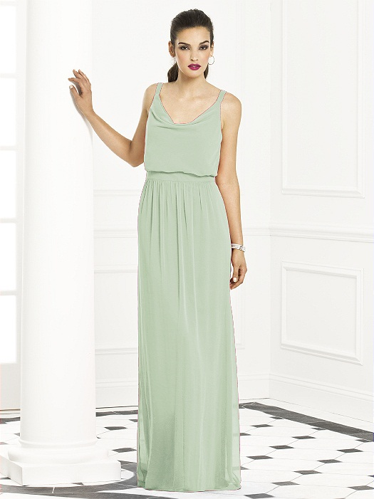 After Six Bridesmaids Style 6666 in celadon | Loverly | The