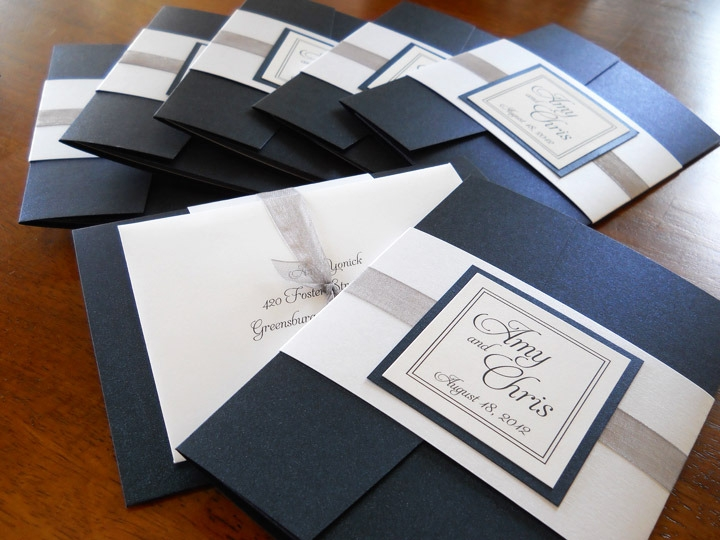 Elegant Pocket Folder Invitations