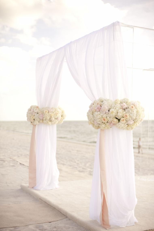 A Glamorous Silver & Blush Beach Wedding – Loverly
