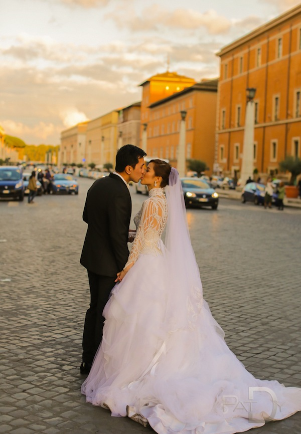 Destination Rome, Italy Wedding Captured by Pat Dy Photography