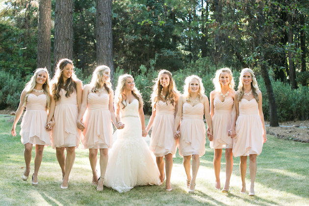 A Pink and White Wedding for Childhood Sweethearts – Loverly
