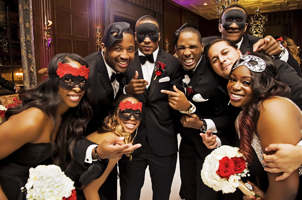 Masquerade Themed Chicago Wedding Heaven Michael Loverly