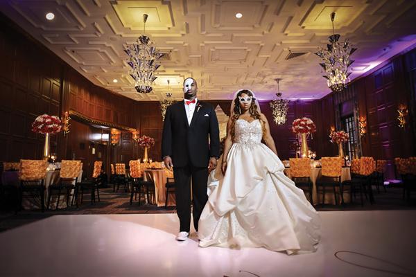 Masquerade Themed Chicago Wedding Heaven Michael Loverly