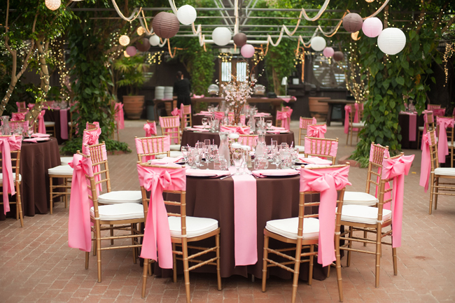 Pink And Brown Anese Cherry Blossom Themed Wedding Loverly The Ultimate Planning Checklist
